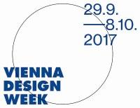Schriftzug im Kreis Vienna Design Week 29. 9. bis 8. 10. 2017.